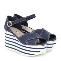 Miu Miu sandali in gabardine con platform