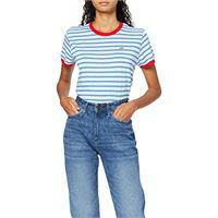 Lee stripe tee t-shirt, blu (dipped blue la), large donna