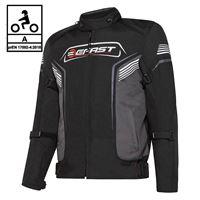 BEFAST giacca moto touring befast blume ce certificata 3 strati nero grigio