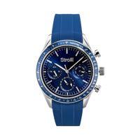 Stroili orologio multifunzione cinturino blu in silicone e cassa in acciaio