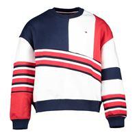 TOMMY HILFIGER felpa girocollo color block logo 1985 bambina