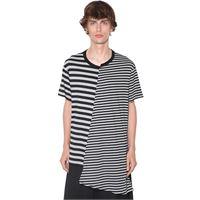 YOHJI YAMAMOTO t-shirt asimmetrica in misto cotone