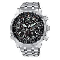 Citizen pilot cb5860-86e orologio uomo eco drive radiocontrollato cronografo