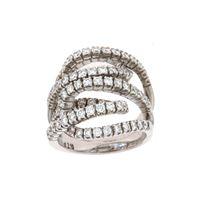 Crivelli anello fascione pavè diamanti crivelli