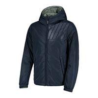 WOOLRICH PENN RICH giacca con cappuccio imbottita reversibile penn poly