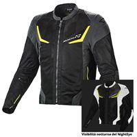 Macna giacca moto estiva Macna orcano night eye giallo fluo