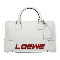 Loewe borse a mano amazona donna pelle bianco one size