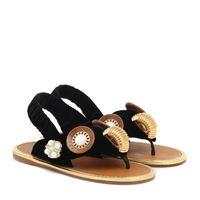 Miu Miu sandali infradito in velluto con decorazione