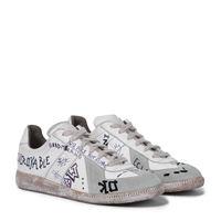Maison Margiela esclusiva mytheresa - sneakers vintage graffiti in pelle