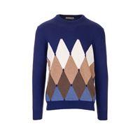BALLANTYNE maglione uomo p2p0007k0a893723 cashmere blu