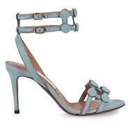L'AUTRE CHOSE sandali donna ose253lightblue camoscio azzurro