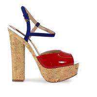 DSQUARED2 sandali donna s17c209404m023 pelle blu