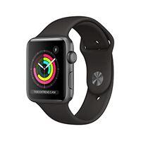 Apple watch series 3 (gps) con cassa 42 mm in alluminio grigio siderale e cinturino sport nero