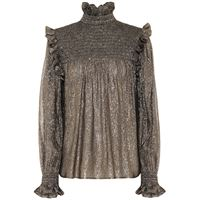 Saint Laurent blusa in seta con lamã©