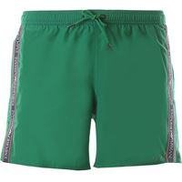 Emporio Armani swim shorts trunks for men in outlet, verde smeraldo, polyester, 2021, l m s xl