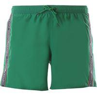 Emporio Armani swim shorts trunks for men in outlet, verde smeraldo, polyester, 2021, l m s