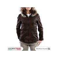 Leather Trend Italy venezia - giacca donna in vera pelle colore testa di moro invecchiato