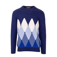 BALLANTYNE maglione uomo p2p0007k0a893542 cashmere blu