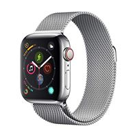 Apple watch series 4 (gps + cellulare) cassa 40 mm in acciaio inossidabile e loop in maglia milanese