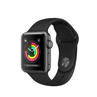 Apple watch series 3 38mm smartwatch grigio oled gps (satellitare)