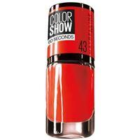Maybelline 43 - red apple color show, colore brillante, asciugatura rapida, 90 crystal rocks smalto 7ml