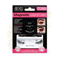 Ciglia finte con eyeliner magnetic liner e lash ardell professional, accent 002