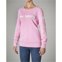 Best Company felpa girocollo rosa in cotone