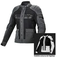 Macna giacca moto donna estiva Macna fluent night eye nero