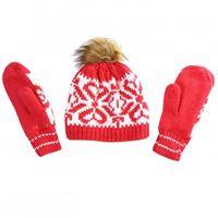 Luhta wm knit beanie & mittens set airis cappello + moffola - donna