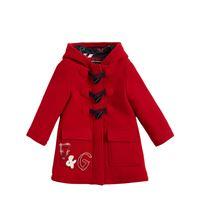 DOLCE & GABBANA cappotto in lana con cappuccio e logo