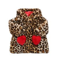 MONNALISA cappotto in eco pelliccia leopard