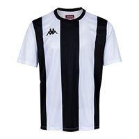 Kappa caserne ss maglietta da squadra, per bambini, bambino, 303hv50, rosso/nero, 8 anni