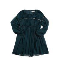 CHLOÉ vestito in crepe di seta plissé