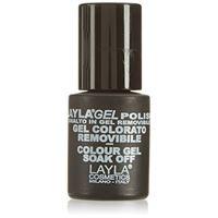 Layla cosmetics Laylagel polish smalto semipermanente per unghie con lampada uv, 1 confezione da 10 ml, tonalità crispy pink