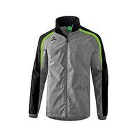Erima 4043523871005 jacket, unisex bambini, grigio melange/nero/green gecko, 140