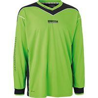 Derbystar brillant maglia da portiere, per bambino, bambini, torwarttrikot brillant, verde/grigio, 164