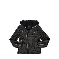 BALMAIN giacca biker in ecopelle metallizzata