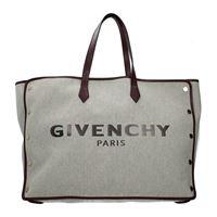 Givenchy borse a spalla bond donna tessuto grigio melanzana one size