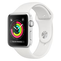 Apple watch serie 3 42mm silver white sport band