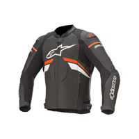 Alpinestars giacca pelle gp plus r v3 nero rosso fluo bianco