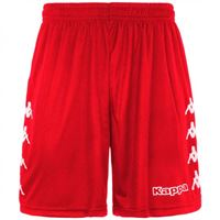 Kappa curchet short 903 red pantaloncino adulto rosso
