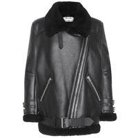 Acne Studios giacca velocite in pelle con shearling
