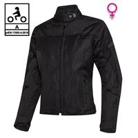 BEFAST giacca moto donna estiva befast duna lady ce certificata nero
