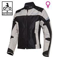 BEFAST giacca moto donna estiva befast duna lady ce certificata nero grigio