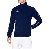 adidas core18 giacca, uomo, blu dk / bianco, xl