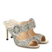 Jimmy Choo sandali saf 85 con glitter e cristalli