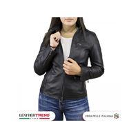 Leather Trend Italy vanessa - giacca donna in vera pelle colore nero morbida