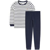 Petit Bateau - bambino - pigiama alla marinara - 2 anni - blu