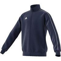 adidas core 18 tk t, giacca unisex bambini, blu (dark blue/white), 116 (5-6 y)