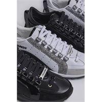 Dsquared2 donna sneaker bianco taglia 35 85% pelle di vitello 9% poliuretanica 3% poliestere 2% cotone 1% viscosa